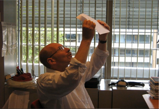 Hans-Gerd Janssen with Chromatograms